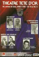 THEATRE  TETE D'OR LYON RHONE SAISON 2001/2002 EDIT.  CART A PUB - Theater