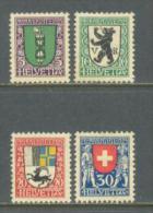 1925 SWITZERLAND PRO JUVENTUTE MICHEL: 214-217 MH * - Svizzera