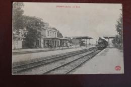1 CP Jessains (Aube) La Gare, Animée, Train - Andere Gemeenten