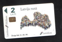 LATVIA - USED CHIP PHONECARD - Latvia