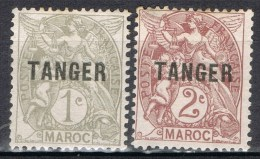 Dos Sellos TANGER, Oficina Francesa, Yvert Num 80-82 * - Ungebraucht