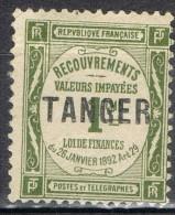 Sello Tasa TANGER, Oficina Francesa, Yvert Num 42 * - Ungebraucht