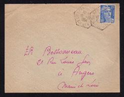 Poste Automobile Rurale / Circuit De SAINTE HERMINE C.P. N° 4 - VENDEE ( THIRE )  Devant De Lettre 1954 - Postmark Collection (Covers)