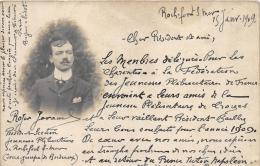 CHARENTE MARITIME  17  ROCHEFORT  LETTRE DES JEUNESSES PLEBISCITAIRES DE CHARENTE ADRESSEE A TROYES AUBE  POLITIQUE - Rochefort