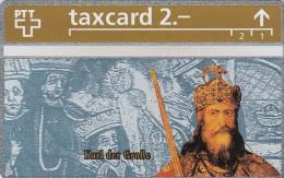 Switzerland, K-185.A, Die Goldenen K�nigskarten - Karl der Gro�e, Mint.   303L.