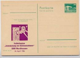 HOLZWURM DDR P84-7-86 C139 Postkarte Zudruck KOLLOQUIUM Nordhausen 1986 - Insekten