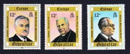 Gibraltar Europa Personalities 3v SG#433/35 SC#390-92 - Gibraltar
