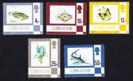 Gibraltar Fishes Butterfly Flower 5v Imprint Date 1981 SG#379b//387a - Gibraltar