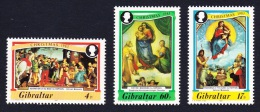 Gibraltar 500th Anniversary Of Birth Of Raphael Christmas 3v SG#501/03 SC#456-58 - Gibraltar