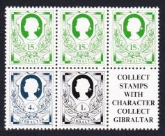 Gibraltar Definitives 3v Block Of 5 SG#451/53 SC#407-09 - Gibraltar