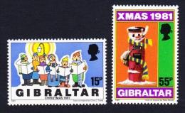 Gibraltar Christmas Children's Drawings 2v SG#457/58 SC#414-15 - Gibraltar