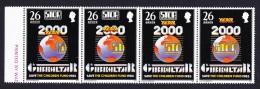 Gibraltar Stop Ppolio Campaign 4v Strip SG#518/21 SC#473 - Gibraltar