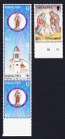 Gibraltar Christmas St. Joseph's Church 3v Strip + 1v SG#529/31 SC#481+481c+482 - Gibraltar