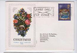 GREAT BRITAIN 1970 CHRISTMAS FDC - Navidad