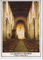 La Chaize-le-Vicomte.. Belle Vue De L'Eglise Romane.. Intérieur De L'Eglise.. La Nef Centrale - La Chaize Le Vicomte