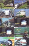 LOT De 10  Télécarte Japon TRAIN (lot 566) Eisenbahn * TREIN * Zug  Japan Telefonkarte * PHONECARD * CHEMIN DE FER * - Trains