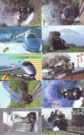 LOT De 10  Télécarte Japon TRAIN (lot 571) Eisenbahn * TREIN * Zug  Japan Telefonkarte * PHONECARD * CHEMIN DE FER * - Treni