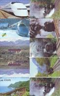 LOT De 10  Télécarte Japon TRAIN (lot 572) Eisenbahn * TREIN * Zug  Japan Telefonkarte * PHONECARD * CHEMIN DE FER * - Trains
