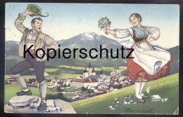 ALTE POSTKARTE MARIAZELL STEIERMARK 1932 TRACHT Traditional Costume Folklorique Austria Österreich Cpa Postcard - Mariazell