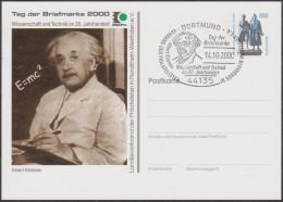 Allemagne 2000. Privatganzsache, Entier Postal Timbré Sur Commande. Albert Enstein, E = MC2 - Albert Einstein