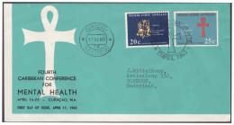 Antillen / Antilles 1963 FDC 24-3M Mental-public Health Open - Curaçao, Antilles Neérlandaises, Aruba