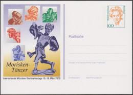 Allemagne 2000. Privatganzsache, Entier Postal Timbré Sur Commande. Morisken Tanzen, Danses - Baile