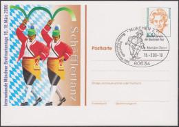 Allemagne 2000. Privatganzsache, Entier Postal Timbré Sur Commande. Schäfflertanz, Danses - Baile