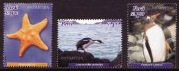 PERU 2004 Antarctica/Antartida, Antarctic Fauna Set Of 3v** - Antarctic Wildlife