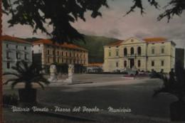 VITTORIO VENETO -PIAZZA DEL POPOLO 1960 COLORATA MANO - Treviso
