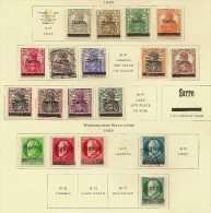 SAAR 1920 Selection (18) SG 2/26 M+U #NE00 - Collections (sans Albums)