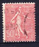 FRANCE YT N° 199f TYPE III Obl. - 1903-60 Semeuse Lignée