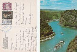 1986 GERMANY COVER Card Auf Dern Rhein An Bord MOTORSCHIFF RHEIN  To Gb Stamps Ship - Ships