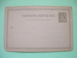 Denmark 1871 Unused Official Pre Paid Postcard - Lion 3 Ore - 1864-04 (Christian IX)