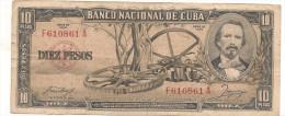 CUBA  10   PESOS  1958