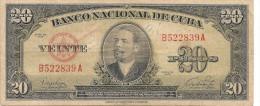 CUBA  20   PESOS  1949