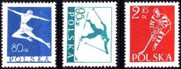 POLAND 1953 Winter Sports Fi 696-98 Mint Never Hinged - 1944-.... République