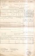 Castelsarrasin-declaration De Recolte 1949-marius Rebel à Bénis - Vieux Papiers