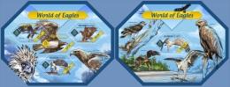slm14403ab Solomon Is. 2014 World of Eagles 2 s/s Fish