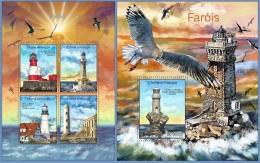 st14311ab S.Tome Principe 2014 Lighthouses Bird 2 s/s
