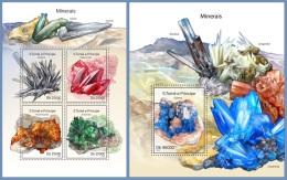 st14312ab S.Tome Principe 2014 Minerals 2 s/s