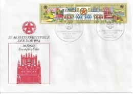 Germany (DDR) 1988  Arbeiterfestspiele, Frankfurt-Oder  FDC  Mi.3168-3169 - [6] Democratic Republic