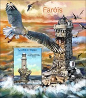 st14311b S.Tome Principe 2014 Bird Lighthouses s/s