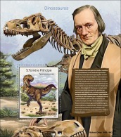 st14307b S.Tome Principe 2014 Dinosaurs s/s