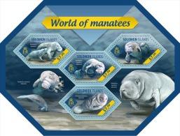 slm14406a Solomon Is. 2014 Manatees s/s Fish