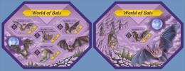 slm14401ab Solomon Is. 2014 World of Bats 2 s/s