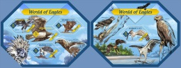 slm14403ab Solomon Is. 2014 World of Eagles 2 s/s