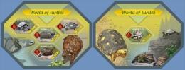 slm14410ab Solomon Is. 2014 World of Turtles 2 s/s