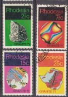 Rhodesia: 1971 Granite  S Set Of 4, Used - Rhodesia (1964-1980)