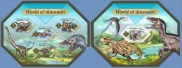 slm14402ab Solomon Is. 2014 World of Dinosaurs 2 s/s