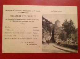 BESANCON  Musique De L'école D'Artillerie Du 7ème Corps  1911-1912 + Cachet Perlé COLLONGES LES PREMIERES - Besancon